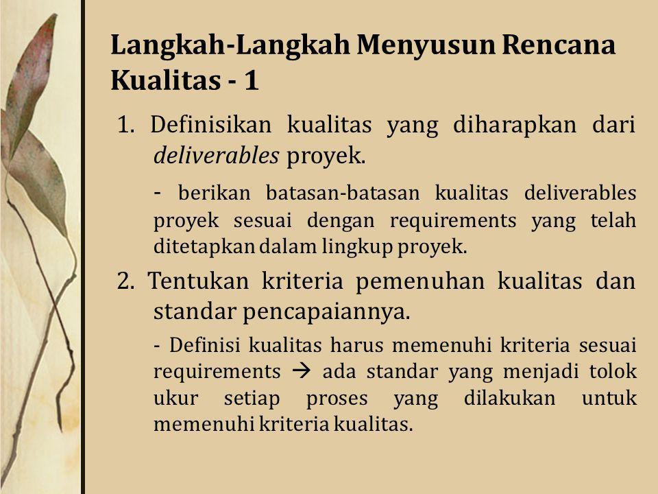 Langkah-Langkah Menyusun Rencana Kualitas - 1