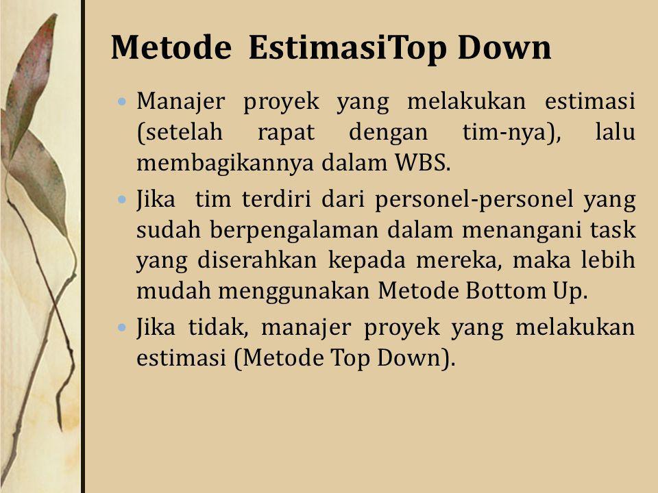 Metode EstimasiTop Down