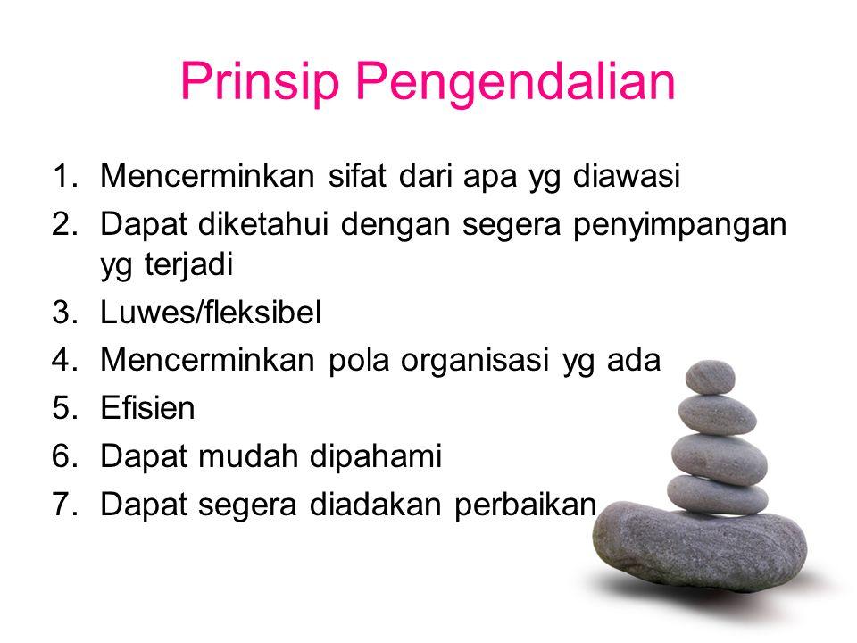 Prinsip Pengendalian Mencerminkan sifat dari apa yg diawasi