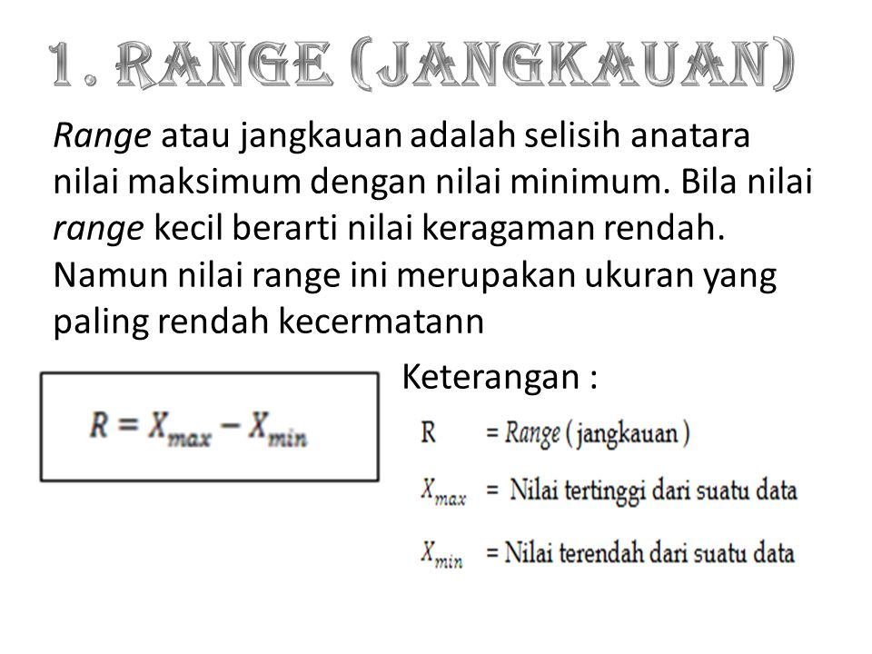 1. Range (Jangkauan)