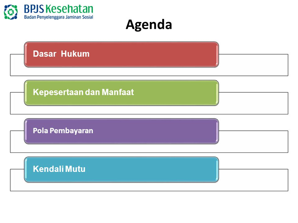 Agenda Dasar Hukum Kepesertaan dan Manfaat Pola Pembayaran