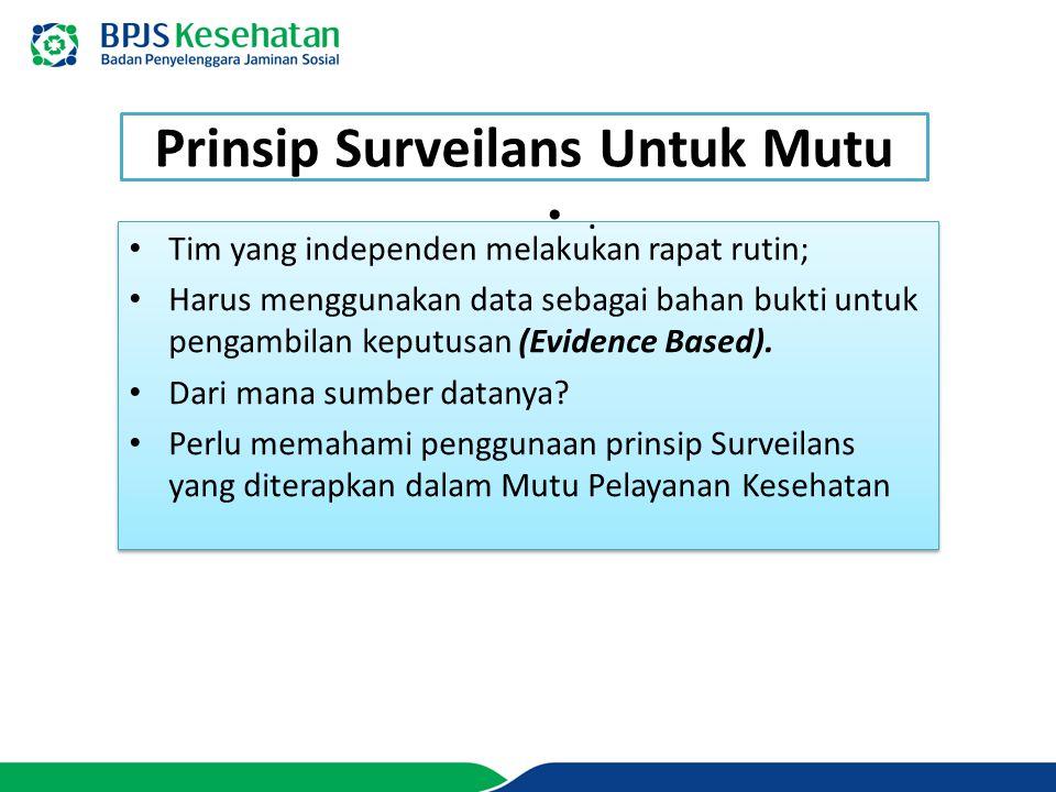 Prinsip Surveilans Untuk Mutu