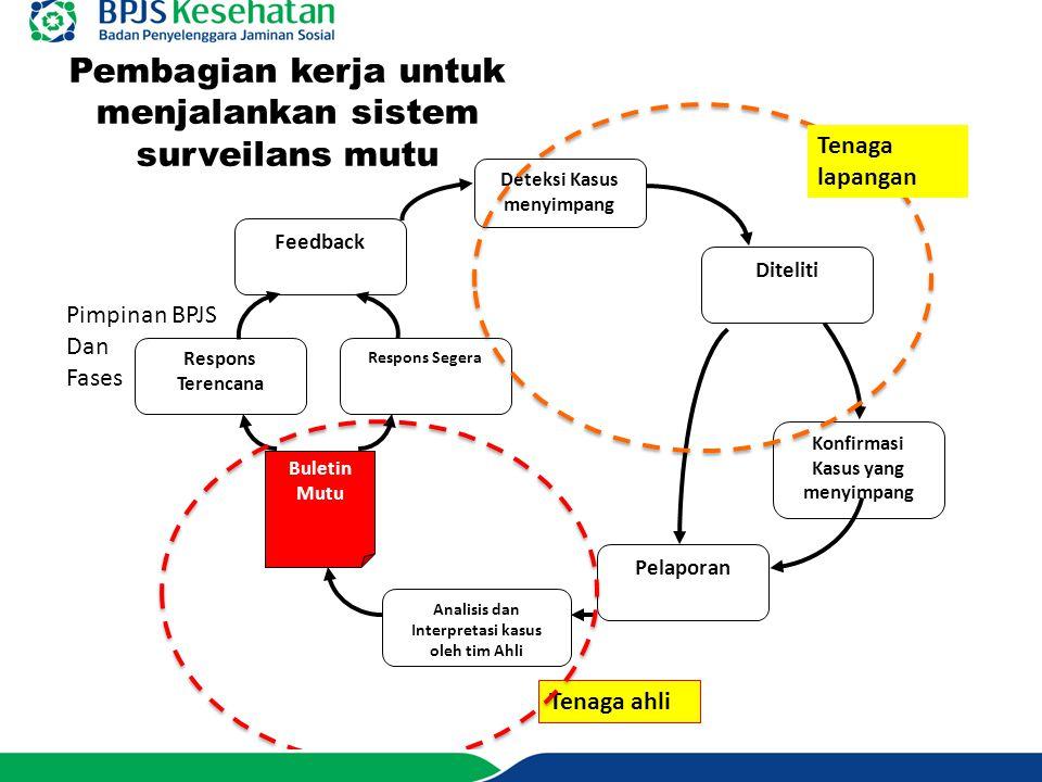 Pembagian kerja untuk menjalankan sistem surveilans mutu