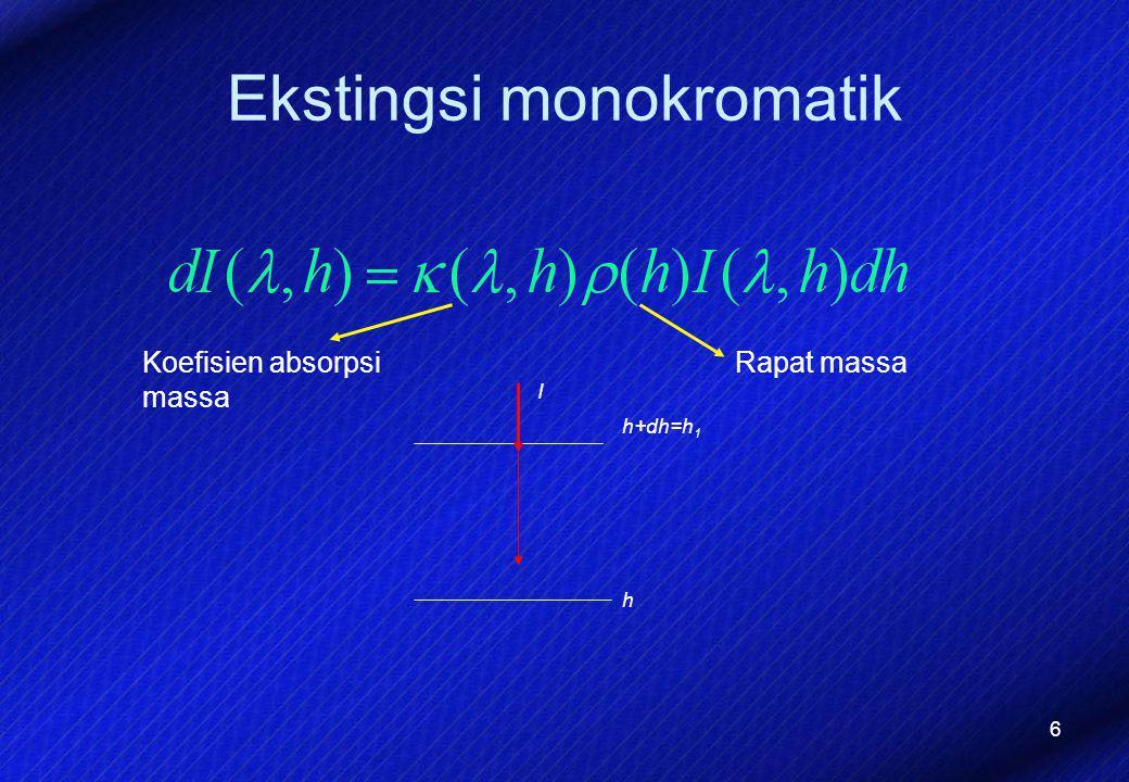 Ekstingsi monokromatik