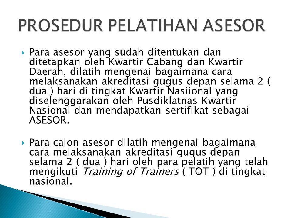 PROSEDUR PELATIHAN ASESOR