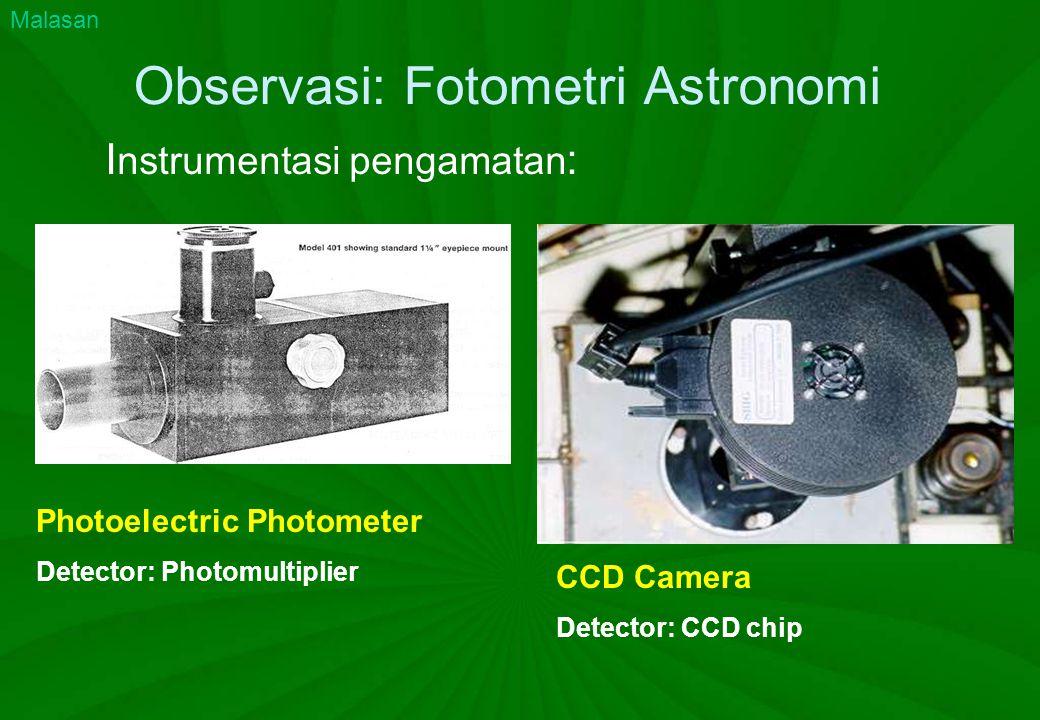 Observasi: Fotometri Astronomi