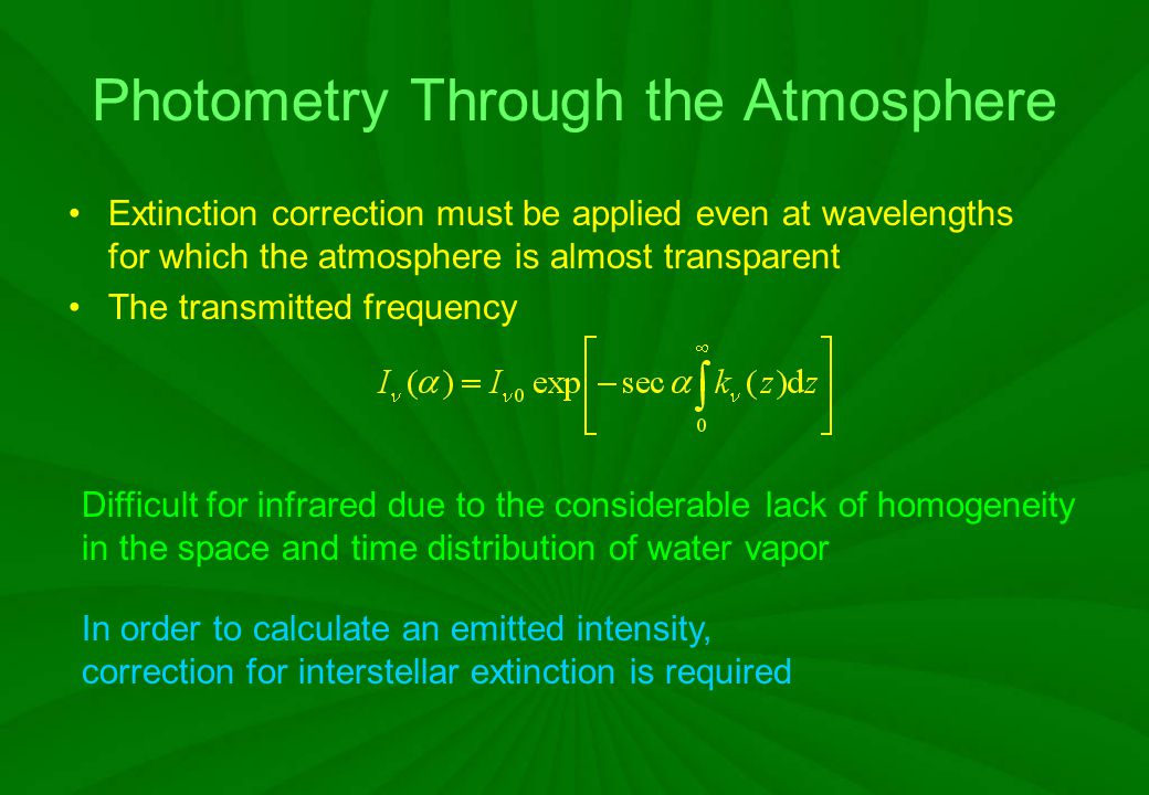 Photometry Through the Atmosphere