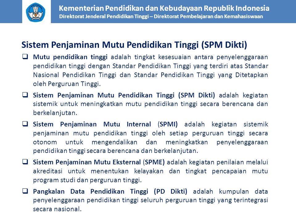 Sistem Penjaminan Mutu Pendidikan Tinggi (SPM Dikti)