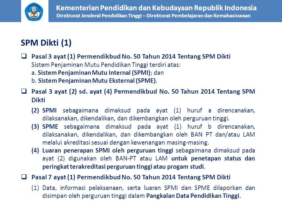 SPM Dikti (1) Kementerian Pendidikan dan Kebudayaan Republik Indonesia