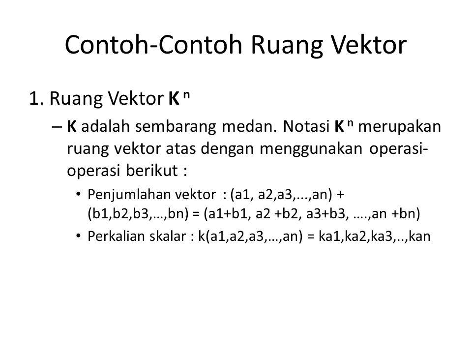 Contoh-Contoh Ruang Vektor