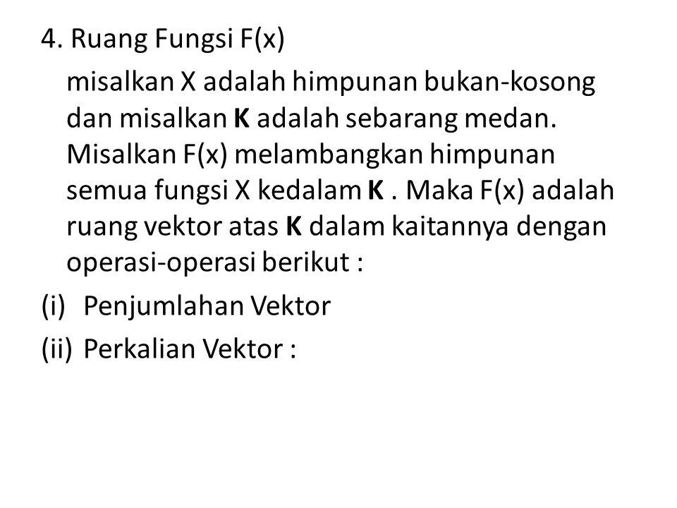 4. Ruang Fungsi F(x)