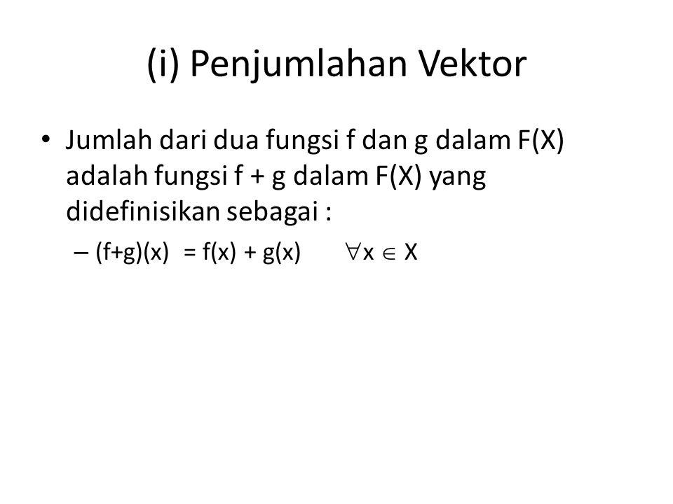 (i) Penjumlahan Vektor