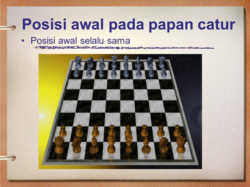 Posisi awal pada papan catur