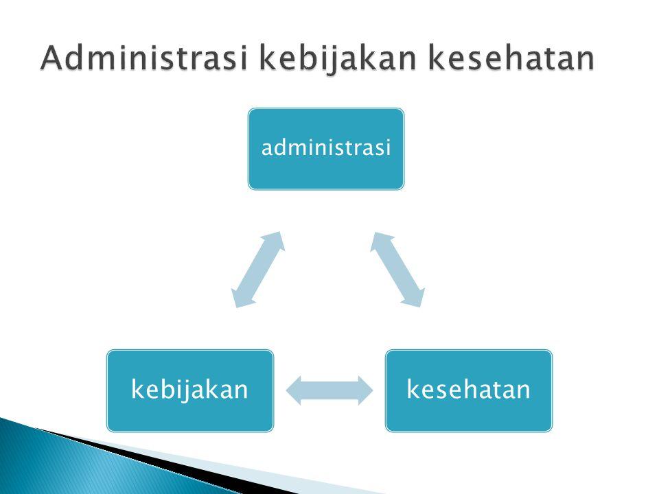 Administrasi kebijakan kesehatan