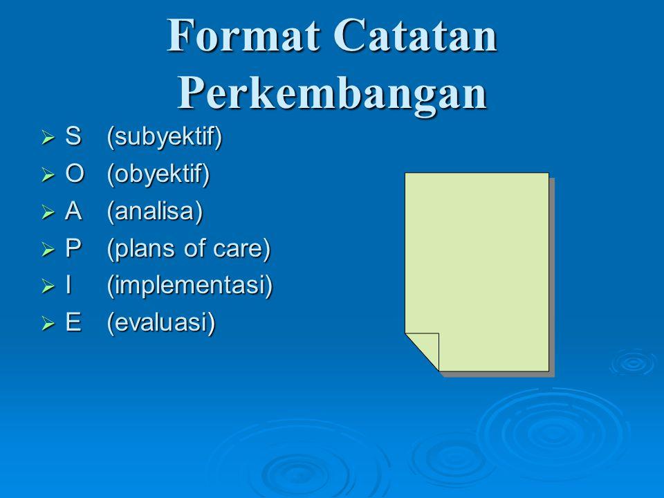Format Catatan Perkembangan