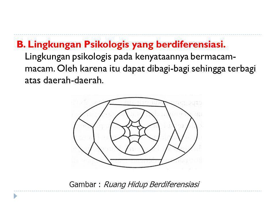 B. Lingkungan Psikologis yang berdiferensiasi