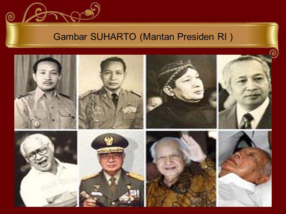 Gambar SUHARTO (Mantan Presiden RI )