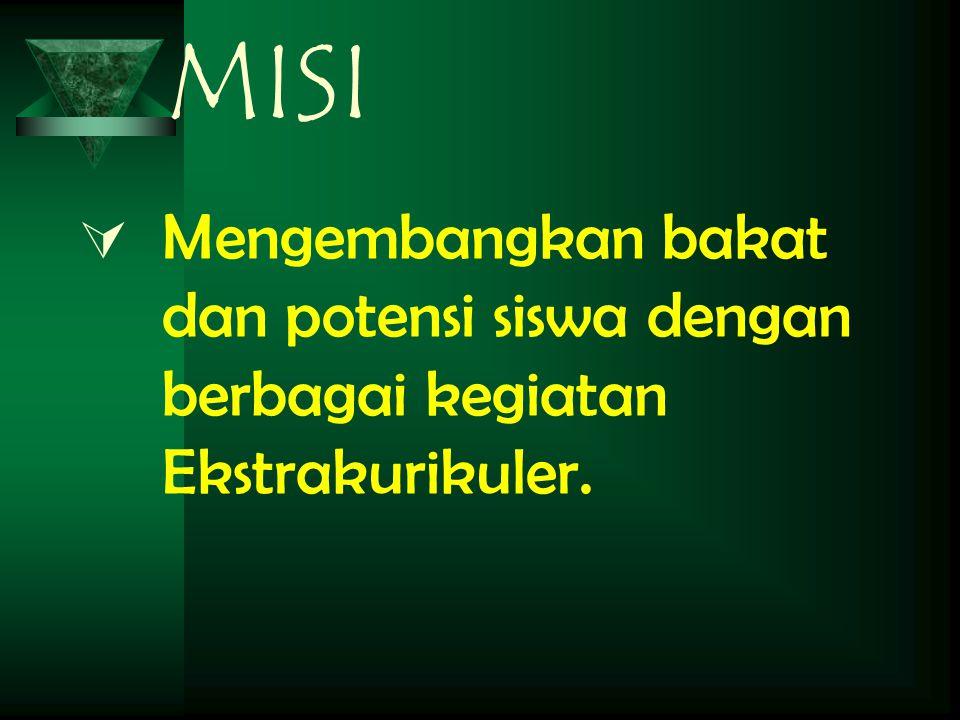 MISI Mengembangkan bakat dan potensi siswa dengan berbagai kegiatan Ekstrakurikuler.