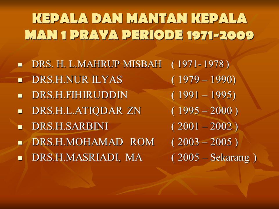 KEPALA DAN MANTAN KEPALA MAN 1 PRAYA PERIODE 1971-2009