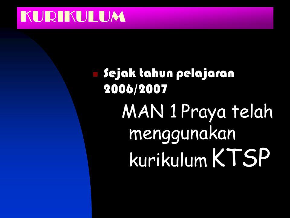 MAN 1 Praya telah menggunakan kurikulum KTSP