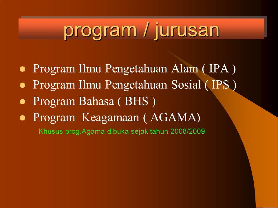 program / jurusan Program Ilmu Pengetahuan Alam ( IPA )