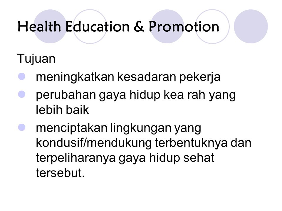 Health Education & Promotion