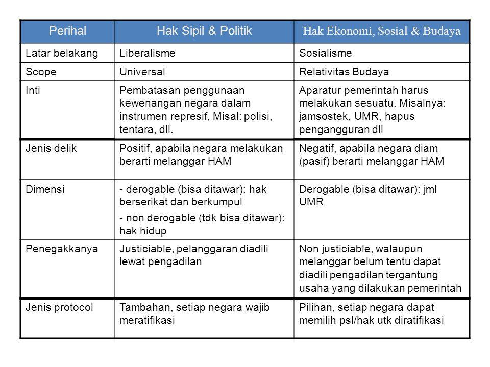 Hak Ekonomi, Sosial & Budaya