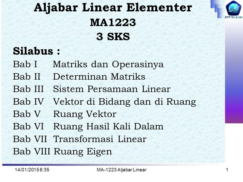 Aljabar Linear Elementer