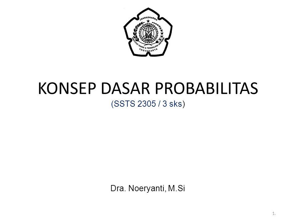 KONSEP DASAR PROBABILITAS (SSTS 2305 / 3 sks)