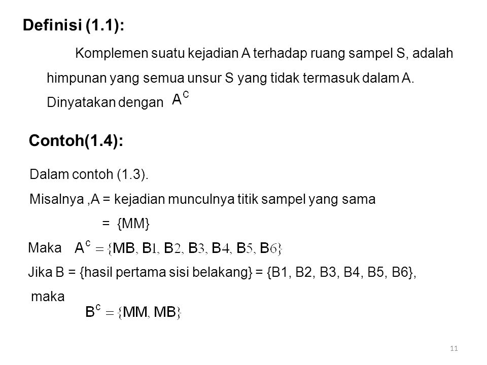 Definisi (1.1): Contoh(1.4):