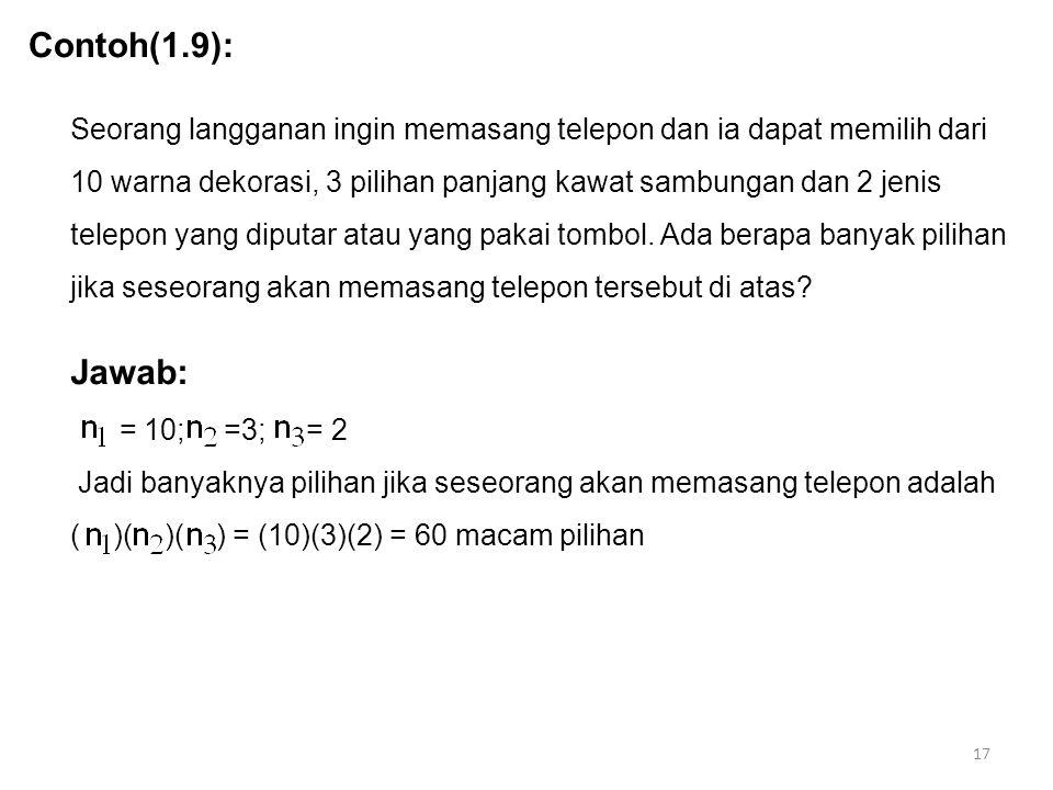 Contoh(1.9):
