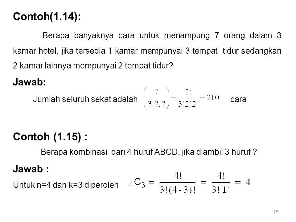 Contoh(1.14):
