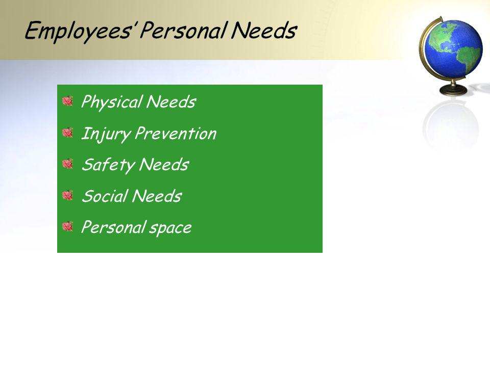 Employees' Personal Needs