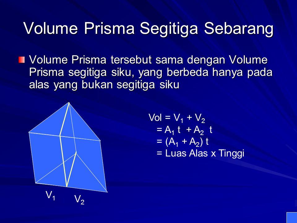 Volume Prisma Segitiga Sebarang
