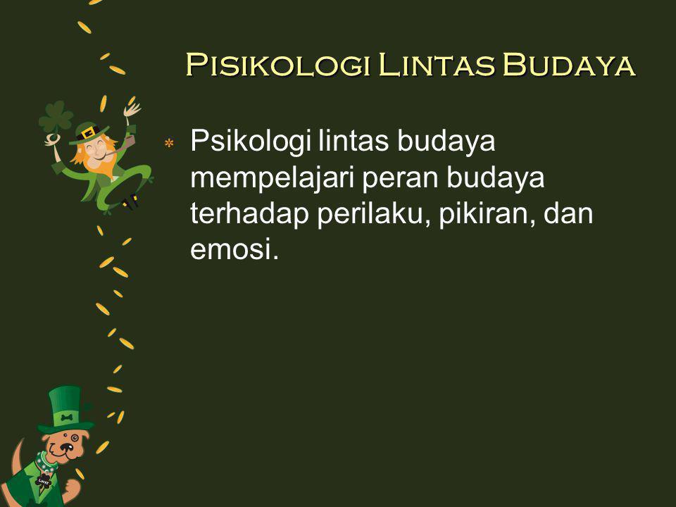 Pisikologi Lintas Budaya