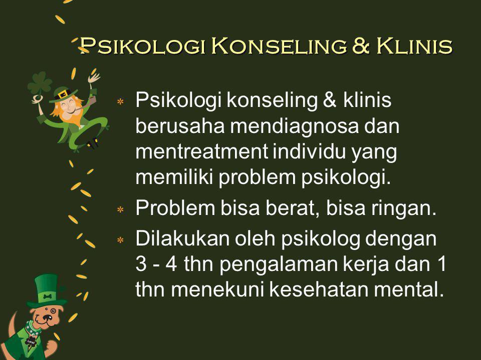 Psikologi Konseling & Klinis