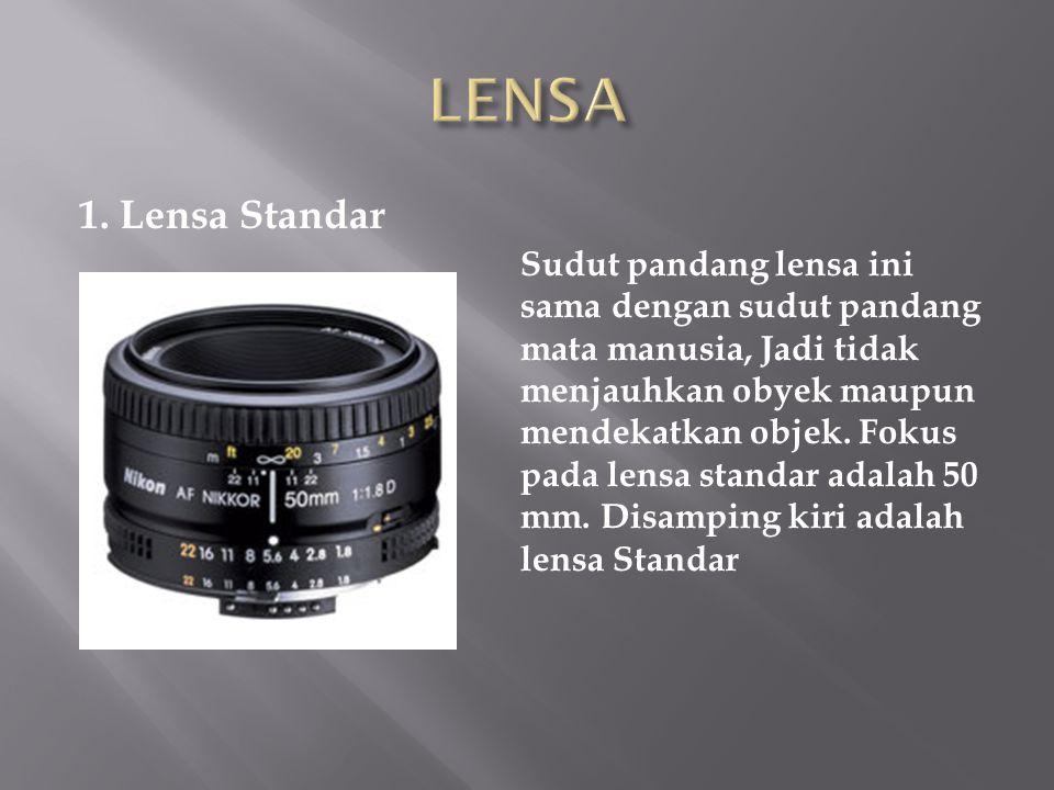 LENSA 1. Lensa Standar.