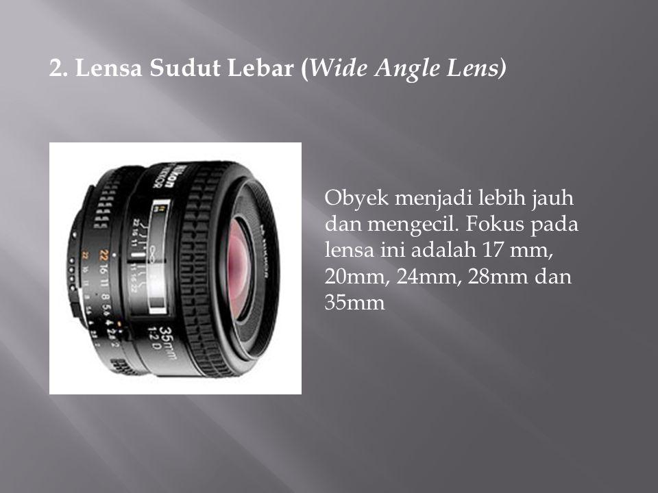 2. Lensa Sudut Lebar (Wide Angle Lens)