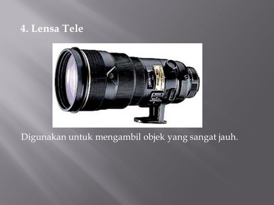 4. Lensa Tele Digunakan untuk mengambil objek yang sangat jauh.