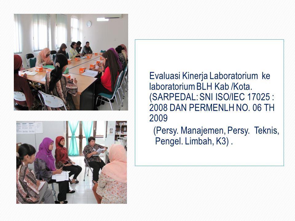 Evaluasi Kinerja Laboratorium ke laboratorium BLH Kab /Kota