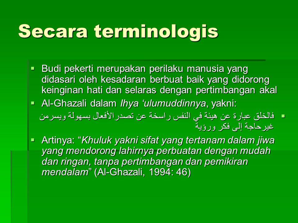 Secara terminologis