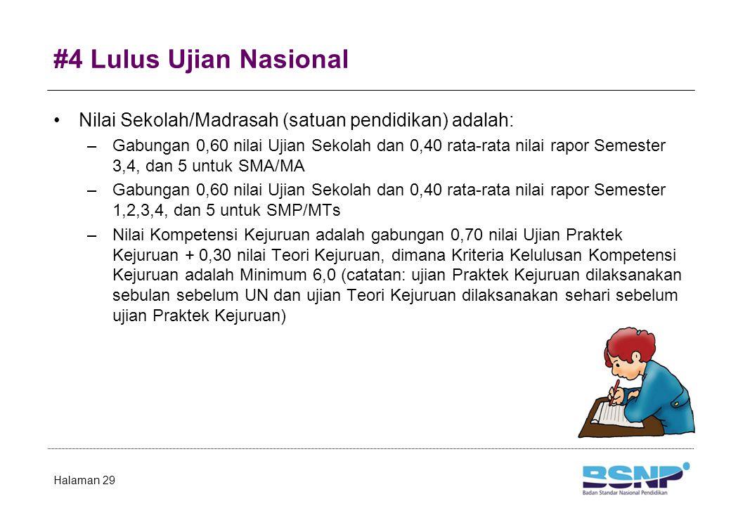 #4 Lulus Ujian Nasional NA = 0,60 UN + 0,40 NS