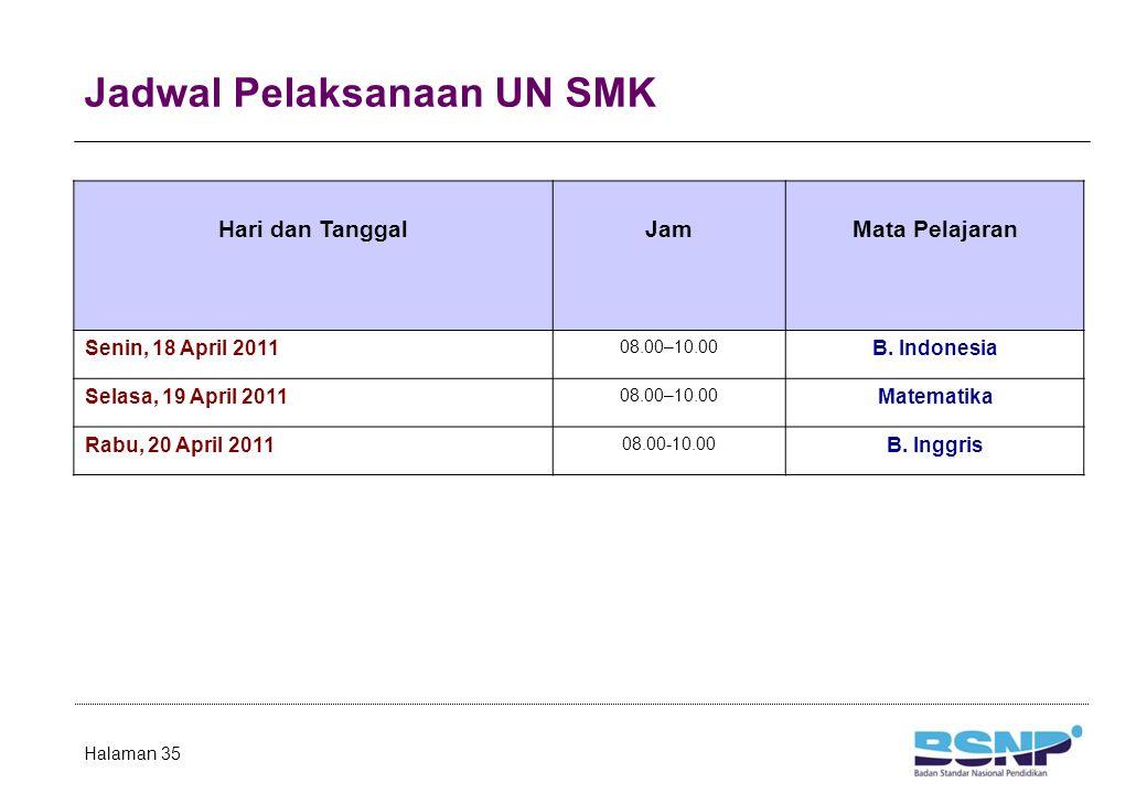 Jadwal Pelaksanaan UN SMP/MTs