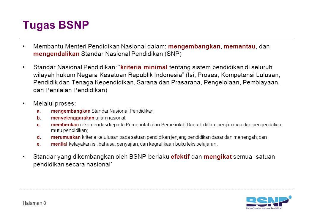 Anggota BSNP Periode 2009-2013 Ketua Prof. Dr. Ir. Moehammad Aman Wirakartakusumah, MSc.