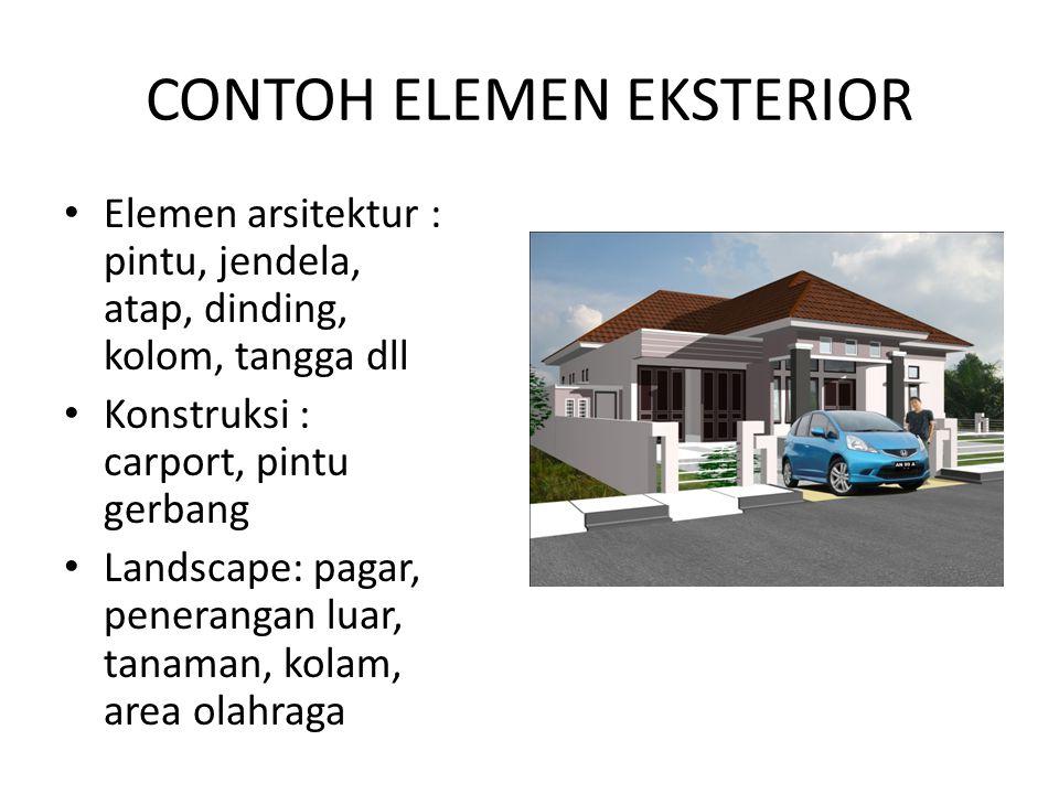 CONTOH ELEMEN EKSTERIOR