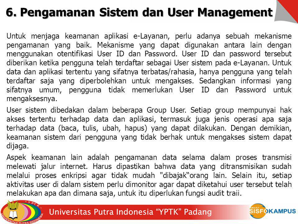 6. Pengamanan Sistem dan User Management