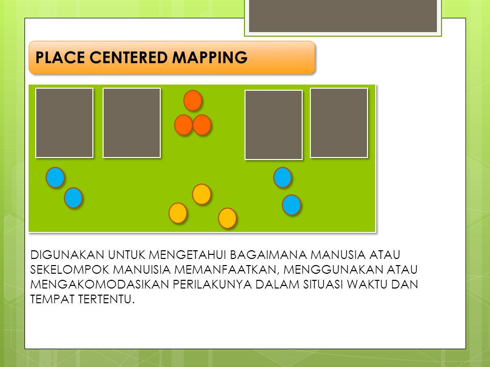 PLACE CENTERED MAPPING