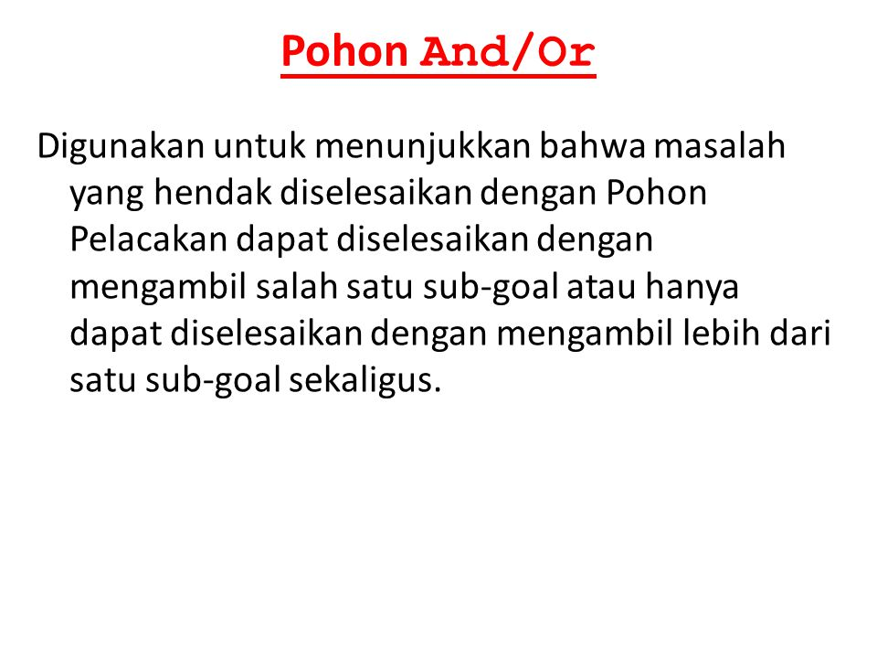Pohon And/Or