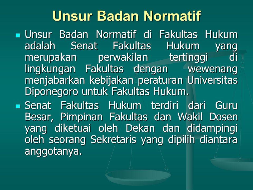 Unsur Badan Normatif