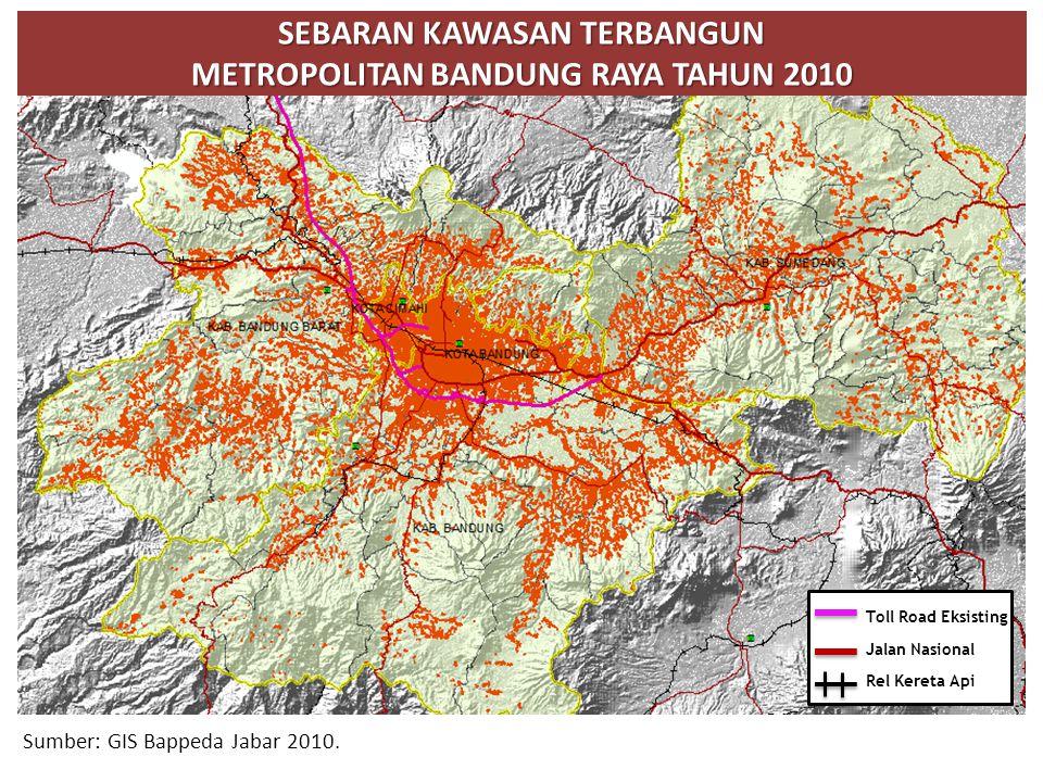 Sebaran kawasan terbangun METROPolitan Bandung RAYA tahun 2010
